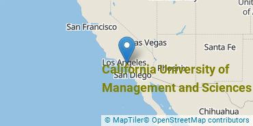 Location of California University of Management and Sciences