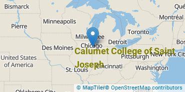Location of Calumet College of Saint Joseph