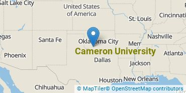 Location of Cameron University