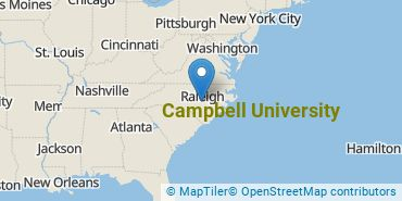 Location of Campbell University