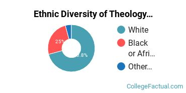 Ethnic Diversity of Theology & Religious Vocations Majors at Campbell University