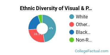 Ethnic Diversity of Visual & Performing Arts Majors at Campbell University