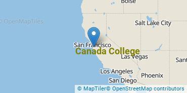 Location of Canada College