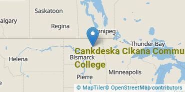 Location of Cankdeska Cikana Community College
