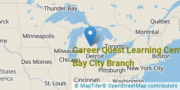 Location of Career Quest Learning Center - Bay City Branch