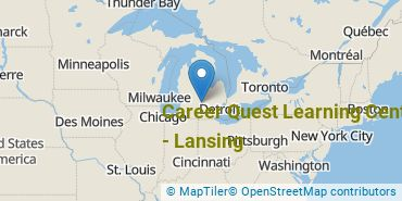 Location of Career Quest Learning Centers - Lansing