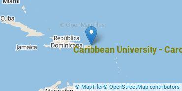 Location of Caribbean University - Carolina