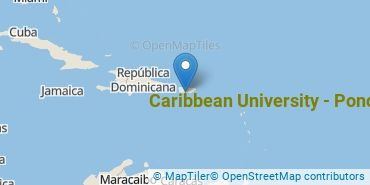 Location of Caribbean University - Ponce