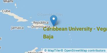 Location of Caribbean University - Vega Baja