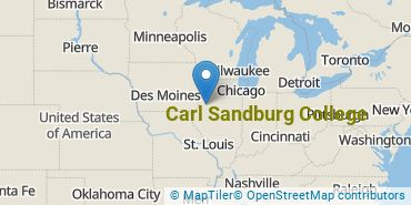 Location of Carl Sandburg College