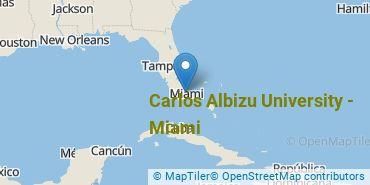 Location of Carlos Albizu University - Miami