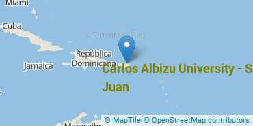 Location of Carlos Albizu University - San Juan