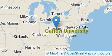 Location of Carlow University