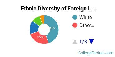 Ethnic Diversity of Foreign Languages & Linguistics Majors at Carnegie Mellon University