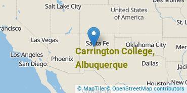 Location of Carrington College, Albuquerque