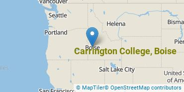 Location of Carrington College, Boise