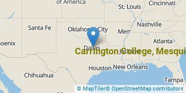 Location of Carrington College, Mesquite