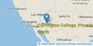 Location of Carrington College, Phoenix North