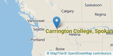 Location of Carrington College, Spokane