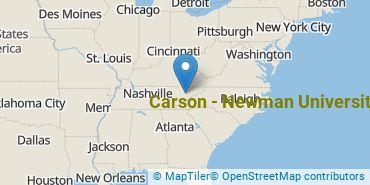 Location of Carson - Newman University