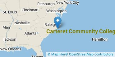 Location of Carteret Community College