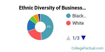 Ethnic Diversity of Business Administration & Management Majors at Catholic University of America