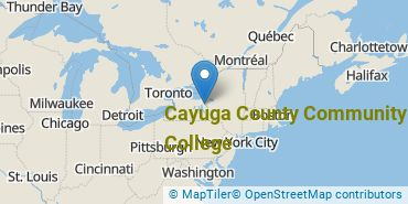Location of Cayuga County Community College