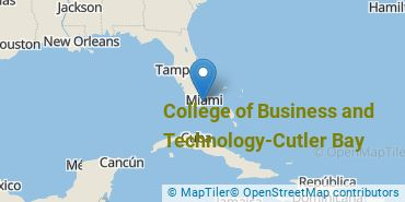 Location of College of Business and Technology-Cutler Bay