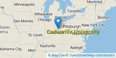 Location of Cedarville University