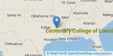 Location of Centenary College of Louisiana