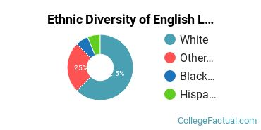 Ethnic Diversity of English Language & Literature Majors at Centenary University