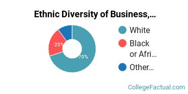 Ethnic Diversity of Business, Management & Marketing Majors at Central Alabama Community College