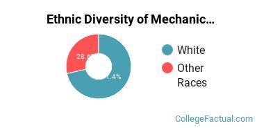 Ethnic Diversity of Mechanic & Repair Technologies Majors at Central Arizona College