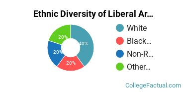 Ethnic Diversity of Liberal Arts / Sciences & Humanities Majors at Central Baptist College