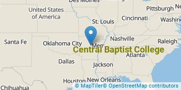 Location of Central Baptist College