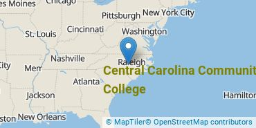 Location of Central Carolina Community College