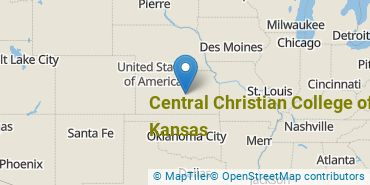 Location of Central Christian College of Kansas