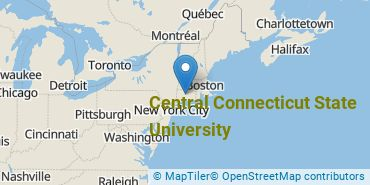 Location of Central Connecticut State University