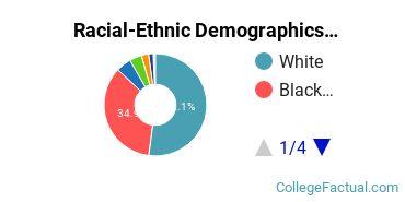 Central Louisiana Technical Community College Undergraduate Racial-Ethnic Diversity Pie Chart
