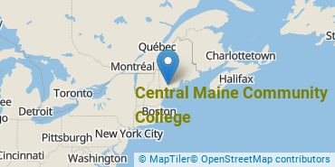 Location of Central Maine Community College