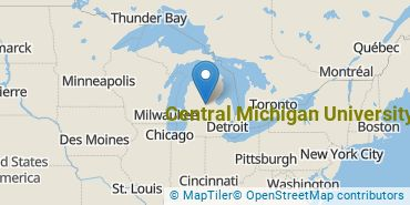 Location of Central Michigan University