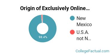 Origin of Exclusively Online Undergraduate Non-Degree Seekers at Central New Mexico Community College