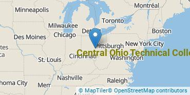 Location of Central Ohio Technical College