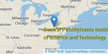 Location of Central Pennsylvania Institute of Science and Technology