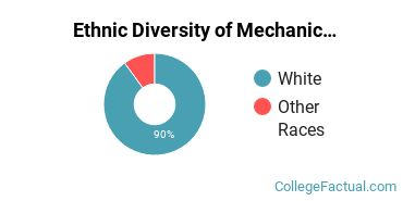 Ethnic Diversity of Mechanic & Repair Technologies Majors at Centralia College