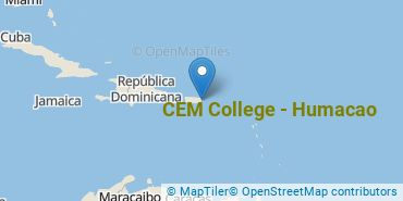 Location of CEM College - Humacao