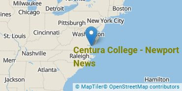 Location of Centura College - Newport News
