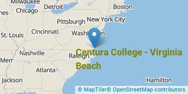 Location of Centura College - Virginia Beach