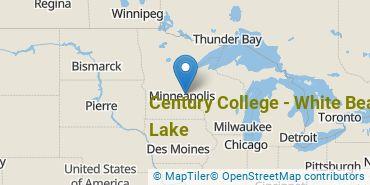 Location of Century College - White Bear Lake