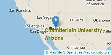 Location of Chamberlain University - Arizona